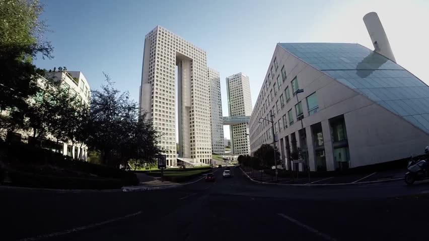 Mexico City Skyscraper driving pov daytime