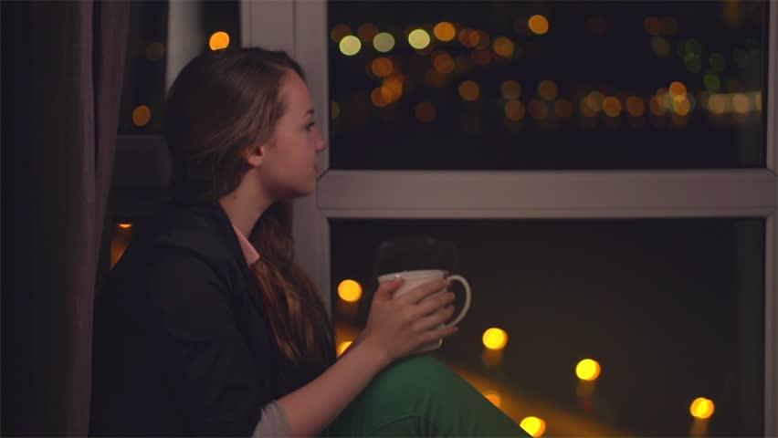 Beautiful Girl Drinking Tea or : video stock a tema (100% royalty free)  6056480 | Shutterstock