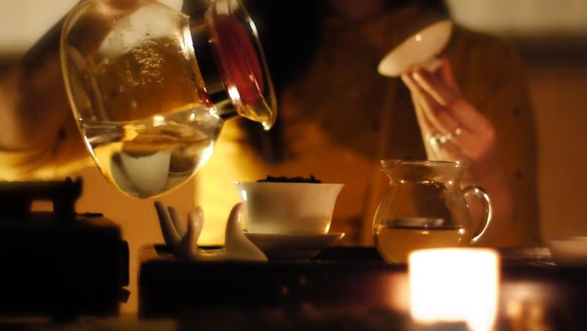 Stock video footage  tea ceremony. | Shutterstock HD Video #605737