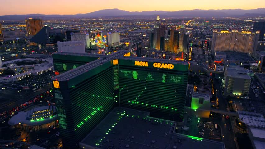 LAS VEGAS, NEVADA, CIRCA 2013 - Aerial view of the MGM Grand in Las Vegas, Nevada.