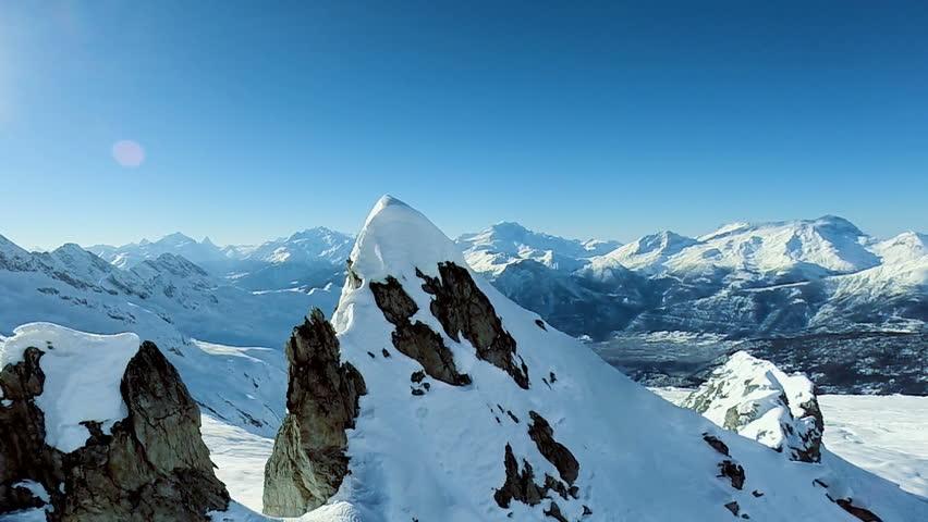 snow mountain peak. aerial view #6065465