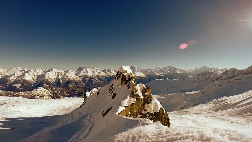 mountain peak. aerial view. winter snow landscape #6065558
