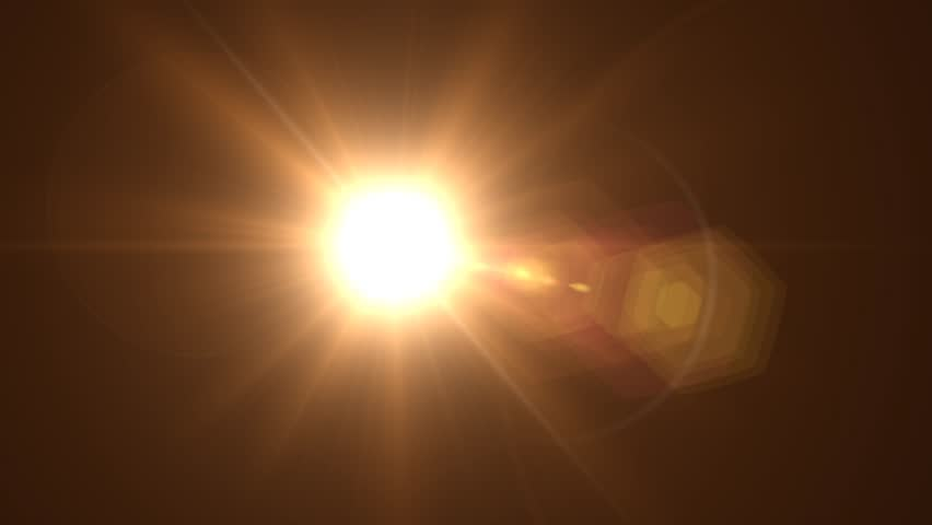 Glowing sun CGI with lens flare | Shutterstock HD Video #6070547