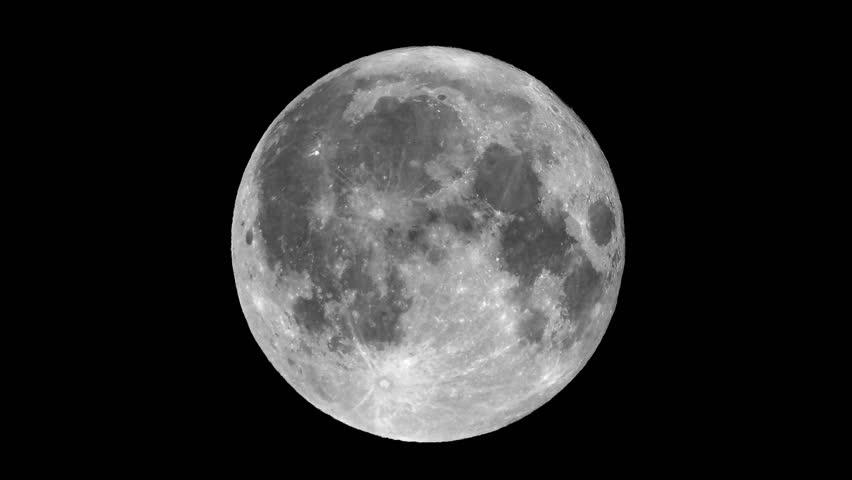 Zoom in on full moon seen through a telescope | Shutterstock HD Video #6076700