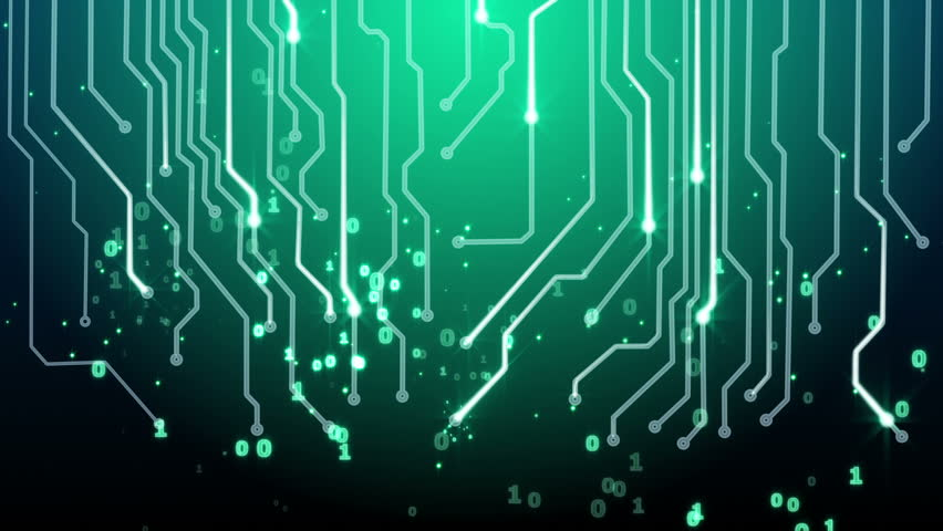 Green Circuit Board And Binary Stock Footage Video 100 Royalty Free 6085154 Shutterstock