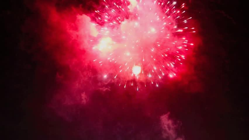 Fireworks display in night sky #6092528