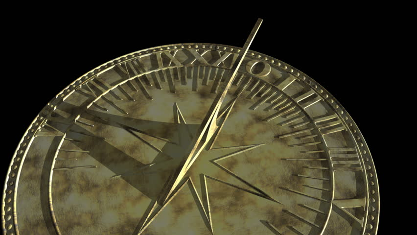 Time passing on a sundial - HD, alpha included