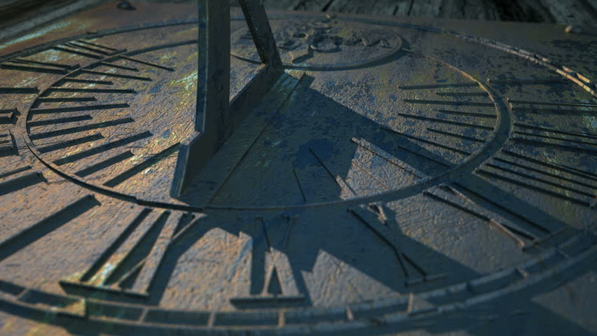 A macro panning closeup of a sundial in a twelve hour time-lapse going from morning until night | Shutterstock HD Video #6116972