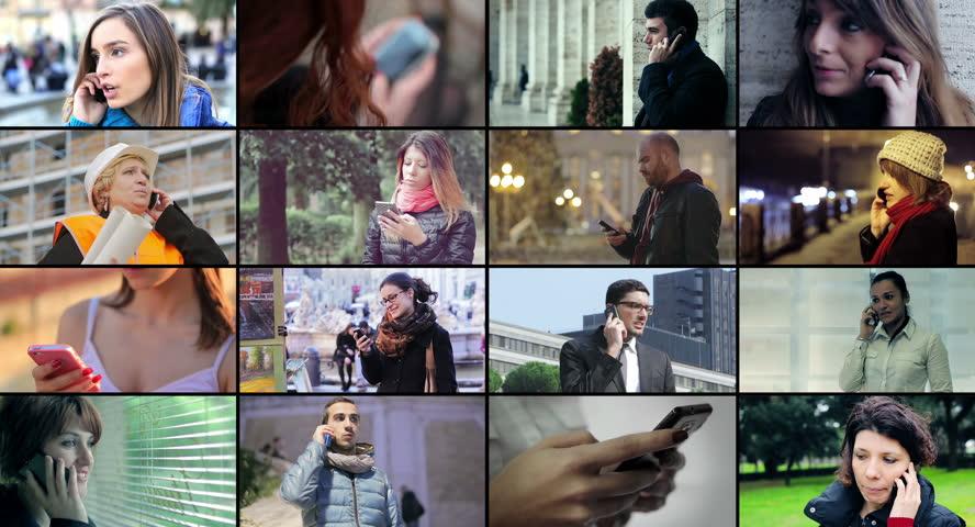 People using smart phone - multiscreen. 4k   Shutterstock HD Video #6125969