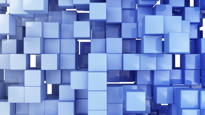 Seamless Looping Abstract Cubes Background. HQ Video Clip #6130904