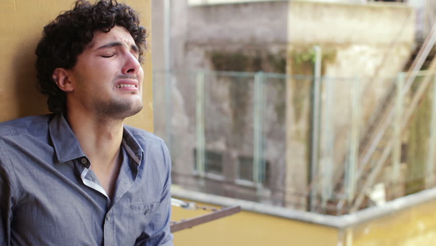 Desperate anguished Man - cry | Shutterstock HD Video #6157778