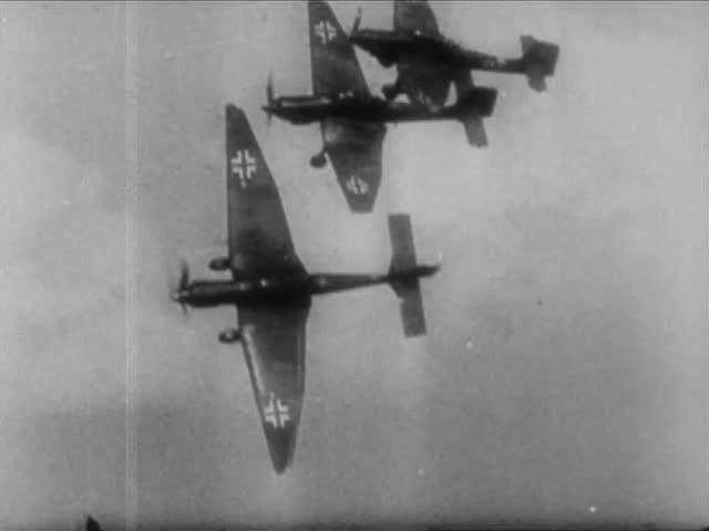 Three German Junkers Ju 87