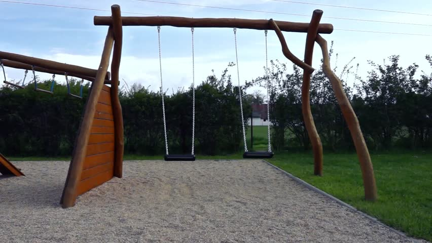 Naturally playful adventure lodge swing set play center