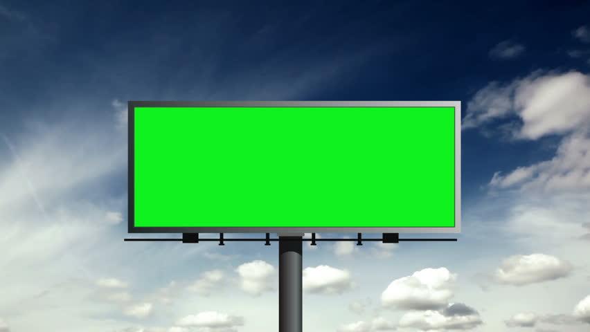Billboard With Green Screen With Sky | Shutterstock HD Video #6185564