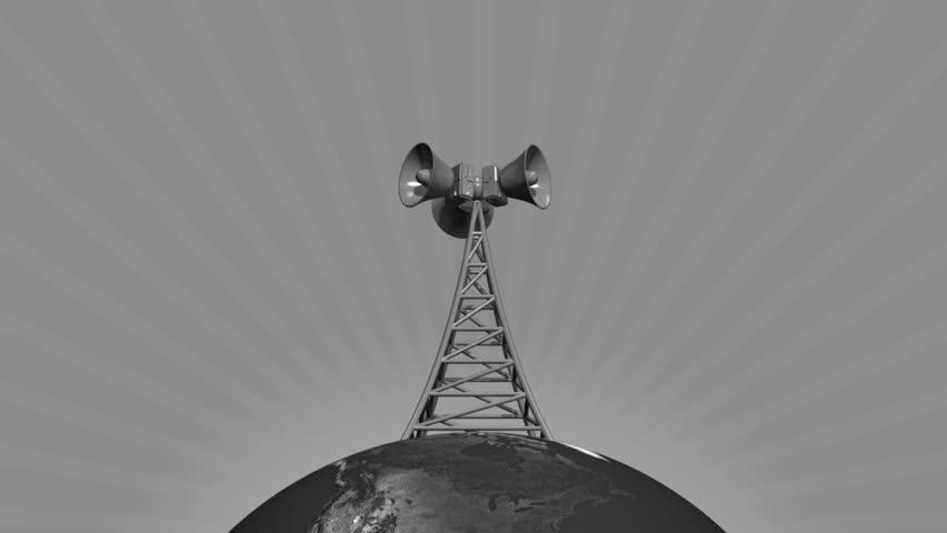 Retro Loud speaker tower loop