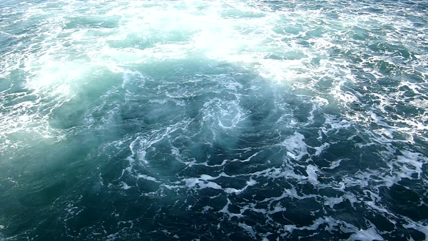Water slow motion 100 frames, waves after the boat.  | Shutterstock HD Video #6225011