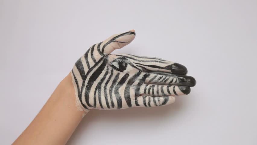 Zebra Hand Painted Body Art Stock Footage Video 100 Royalty Free 623383 Shutterstock