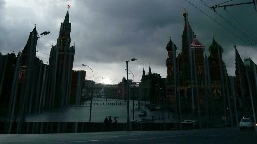 View of Kremlin, rainy day, timelapse   Shutterstock HD Video #625588