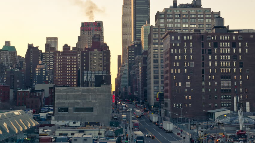 NEW YORK - APRIL 10: Manhattan's 34th Street on April 10, 2014 in New York. Manhattan is the smallest yet most populous of New York City's five boroughs. | Shutterstock HD Video #6259397