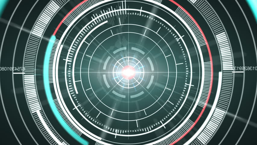 Abstract hi-tech circle element background. Loop. Matte channel included. | Shutterstock HD Video #6303059
