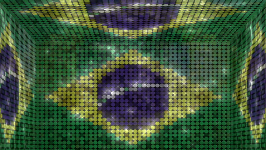 Brazil box title plate transition - Alpha matteAnimation in-n-out of the brazilian flag glitter lights cube. Use for title plates, transition and background. Full HD   Shutterstock HD Video #6313151
