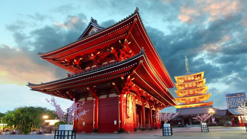 Tokyo Japan Cost-effective international trip  - Sensoji-ji, Temple in Stock Footage Video (100% Royalty-free)  6325205 | Shutterstock