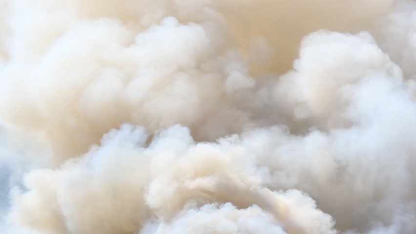 Closed-up of smoke forest fire in Asia #6333872