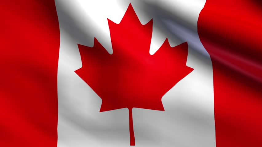 Flag Of Canada Background Seamless Loop Animation