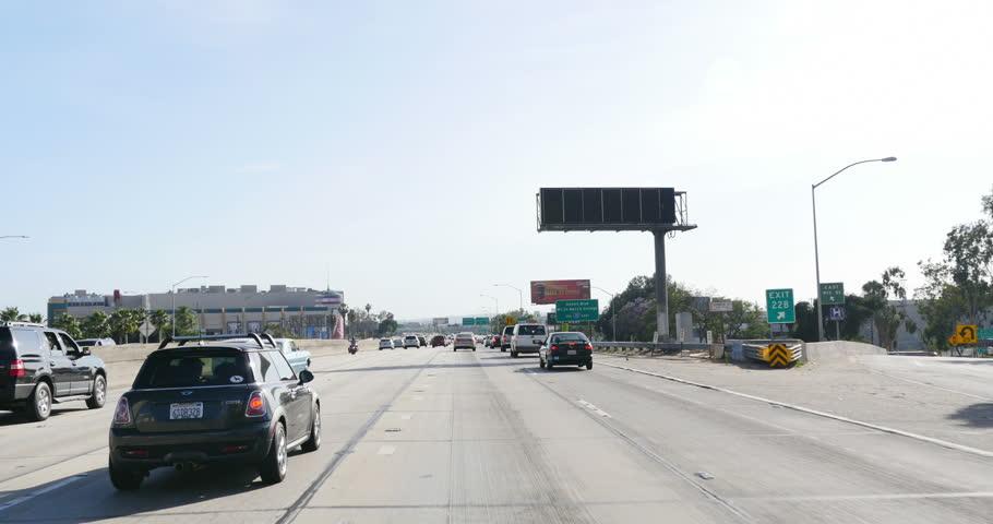 Driving LA Freeway 07 Royalty-Free Stock Footage #6375644