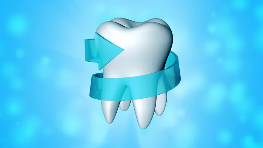 White Tooth With Blue Arrow Stock Footage Video 100 Royalty Free 6398609 Shutterstock