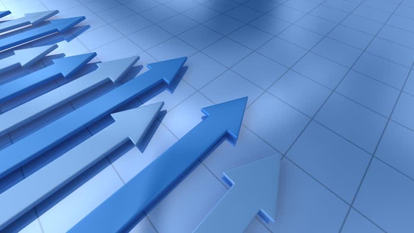Business graph with arrow    Shutterstock HD Video #641257