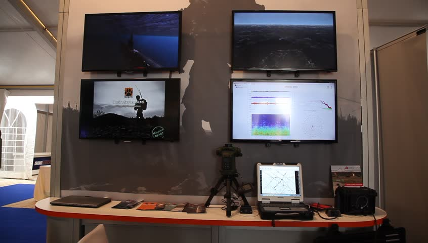 ZICHRON YAAKOV, ISRAEL - MAY 20: Bagira Amms Training System. Microflown Avisa Charting Sound Fields in the 3rd International Fire Conference, May 20th, 2014 | Shutterstock HD Video #6412625