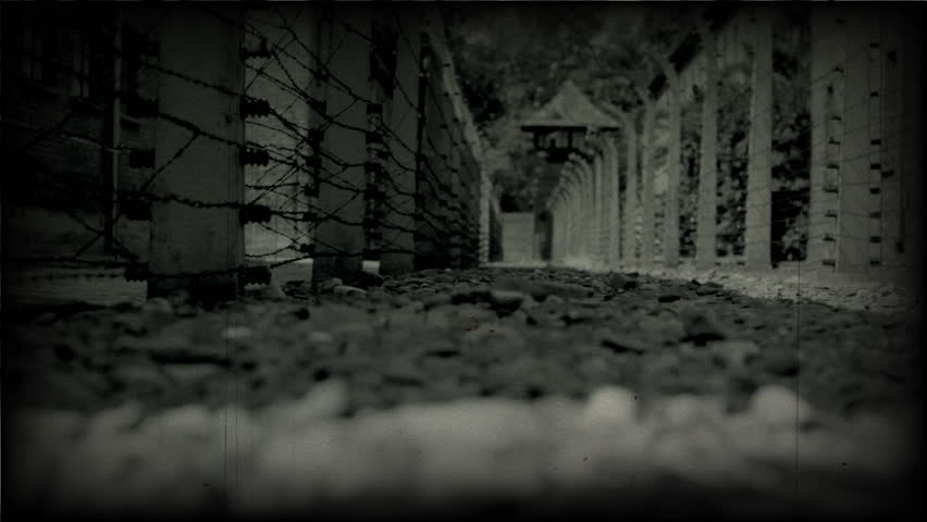 AUSCHWITZ, POLAND - CIRCA 2010 - Extermination camp in Poland. Dolly move left to right.