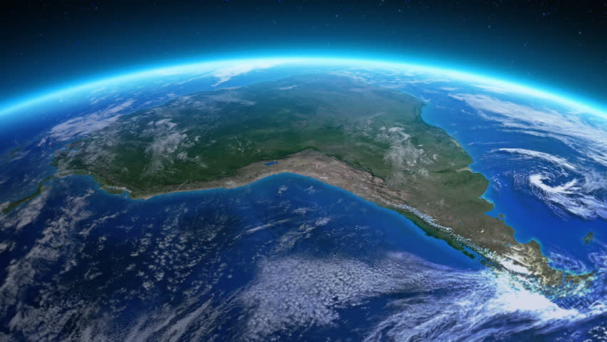 Beautiful view of the Earth over South America seen from space. MORE OPTIONS IN MY PORTFOLIO  Royalty-Free Stock Footage #6442814