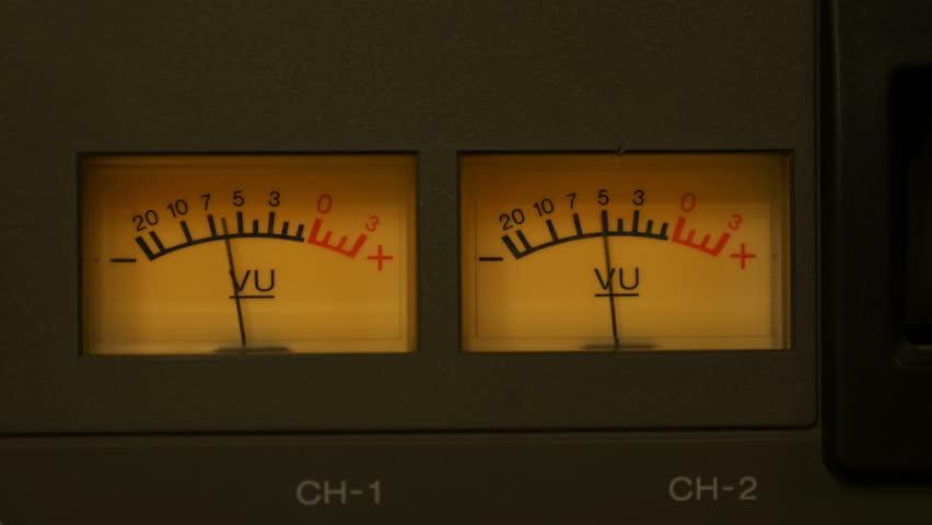 Audio Sound VU Meters on Tape Deck 4K | Shutterstock HD Video #6452903