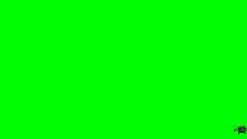 Military Helicopter Uh-60 Black Hawk in fly - green screen | Shutterstock HD Video #6455720