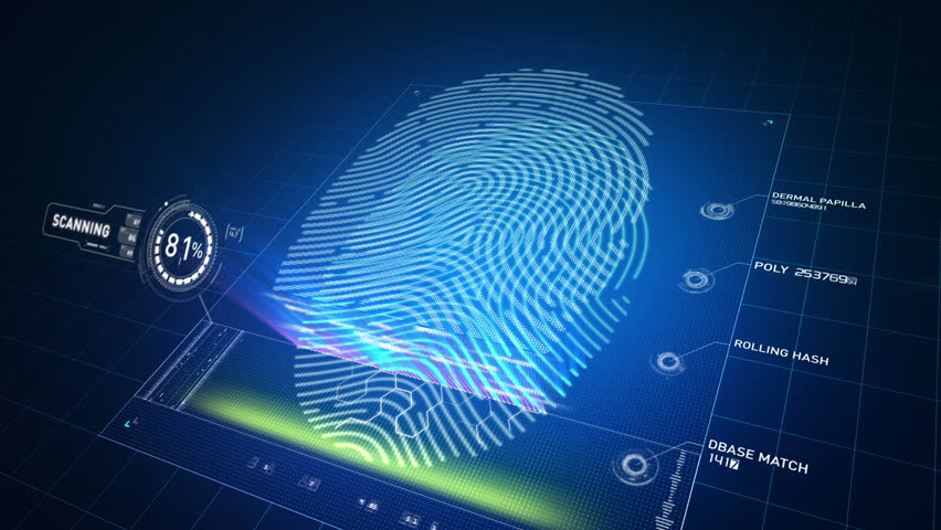 Biometric scanner analyzes and approves a finger print left by an anonymous Caucasian male  | Shutterstock HD Video #6493970