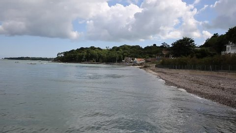 Seagrove Bay near Bembridge and St Helens harbour Isle of Wight England