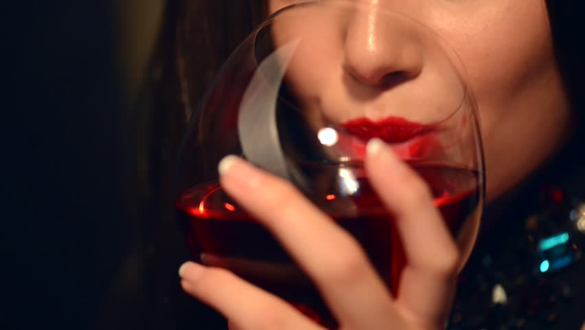 Beautiful Young Woman Drinking Red Stock Footage Video (100% Royalty-free)  6526361   Shutterstock