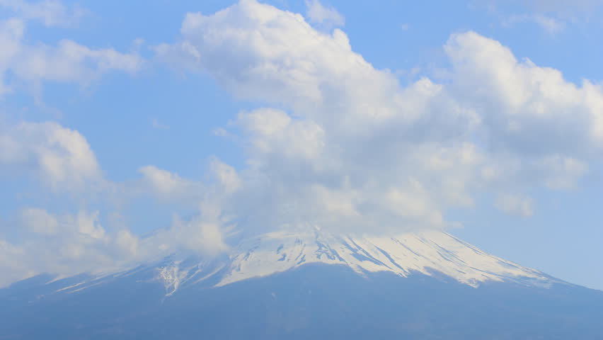 Timelapse view of Mt Fuji with cloudy | Shutterstock HD Video #6536633