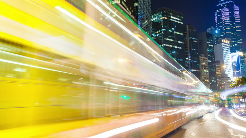Hong Kong, China - Oct 28: 4k timelapse video of busy traffic in the Central, Hong Kong on Oct 28, 2011. Central is the central business district of Hong Kong. | Shutterstock HD Video #6560204