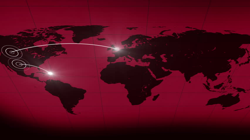 Abstract bakground world line. lines connecting on the world map. moving lighted lines. flashing circles | Shutterstock HD Video #6569774