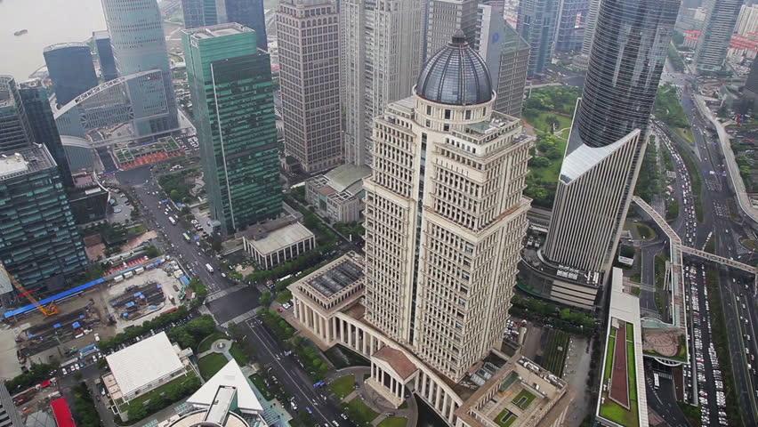 View of Shanghai Lujiazui financial district and Huangpu river , Shanghai, China #6590591