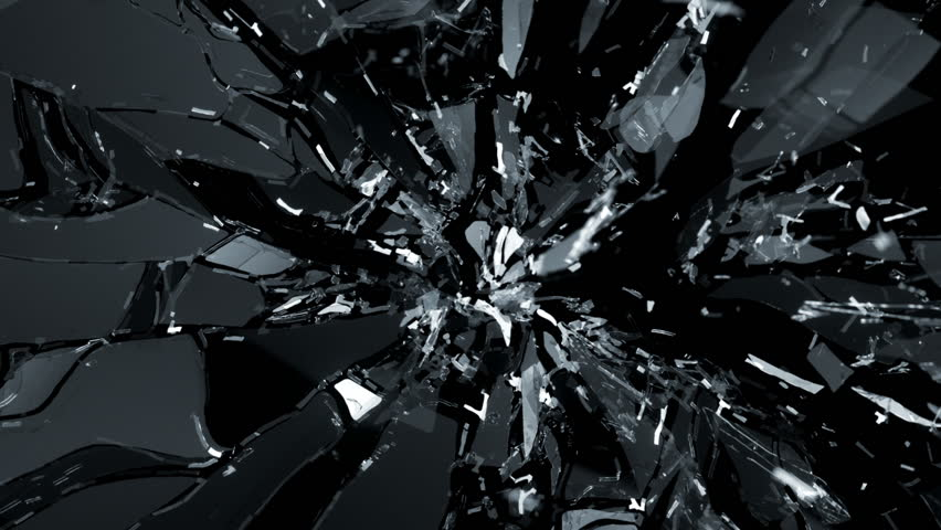 Shattered glass with slow motion. Alpha   Shutterstock HD Video #6591785
