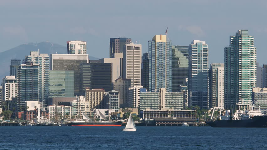San Diego Bay With Downtown Stock Footage Video 100 Royalty Free 6610373 Shutterstock