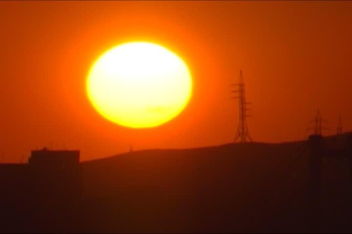 Impressive huge sunset #661681