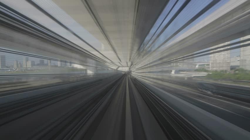 4K time-lapse of Odaiba train line | Shutterstock HD Video #6627254