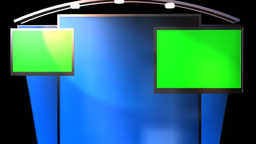 Virtual Studio Background with animated Green Screen TV | Shutterstock HD Video #6628253