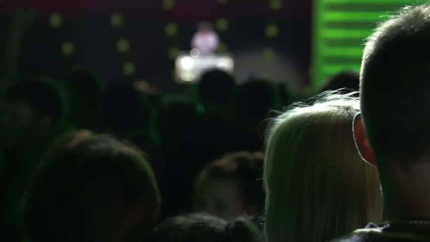 Crowd of fans at a concert DJ at night | Shutterstock HD Video #6632042