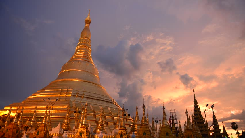 Shwedagon temple in burma ,myanmar timelapse | Shutterstock HD Video #6633281